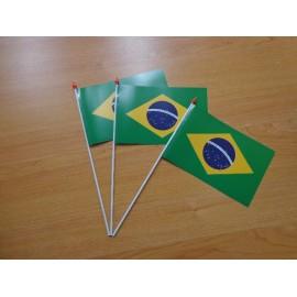 drapeau plastique brésil 10*15