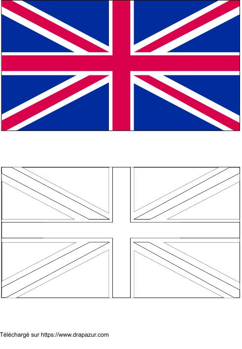 Colories le drapeau du royaume uni drapazur - Drapeau royaume uni a colorier ...
