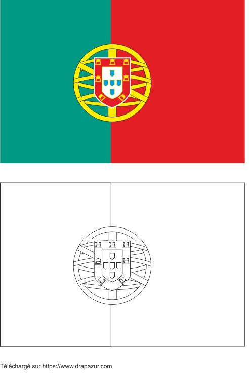 Colories le drapeau du portugal drapazur - Drapeau portugais a imprimer ...